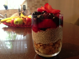 Add to a chia and granola pudding